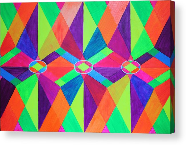Kaleidoscope Acrylic Print featuring the painting Kaleidoscope Wise by Ann Sokolovich