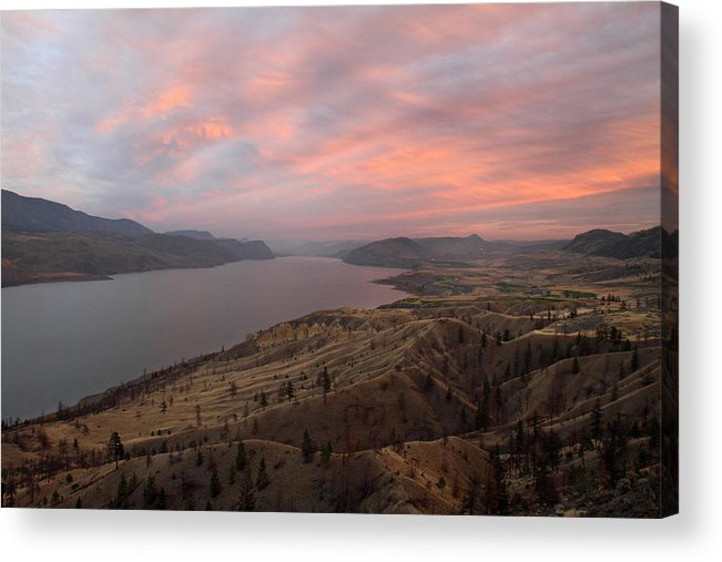 Kamloops Acrylic Print featuring the photograph Kamloops Lake British Columbia Canada by Pierre Leclerc Photography