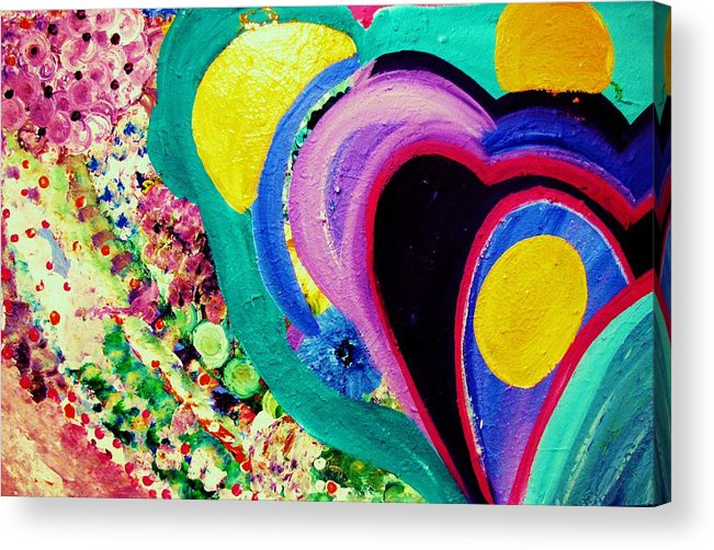 Art Acrylic Print featuring the painting Kam's Garden by HollyWood Creation By linda zanini