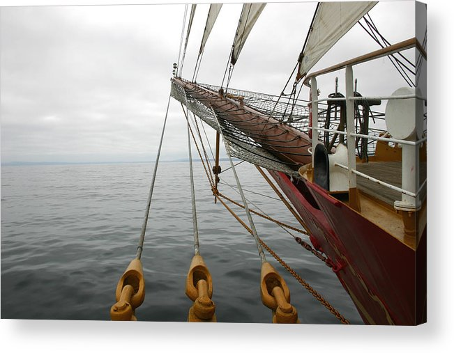 Sailing Acrylic Print featuring the photograph Kersones by Hans Jankowski