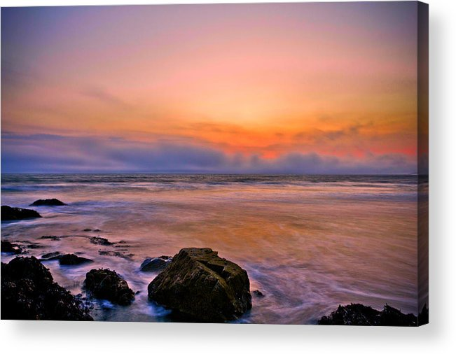 Sunset Acrylic Print featuring the photograph Killantringan Bay by Derek Beattie