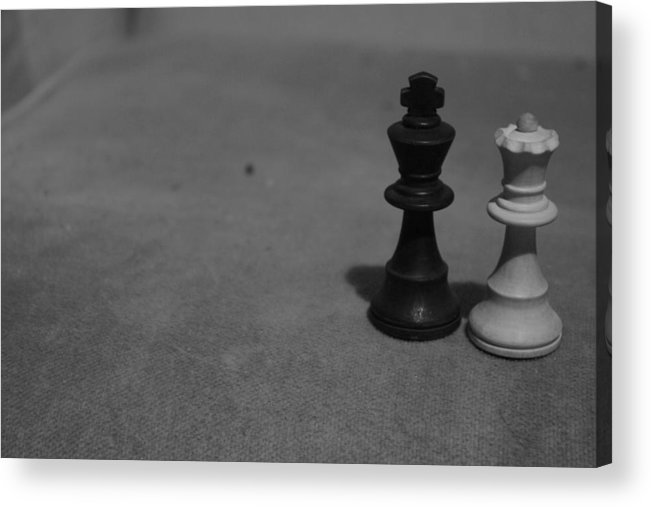 Chess Acrylic Print featuring the photograph King And Queen by Hannah Van Patter