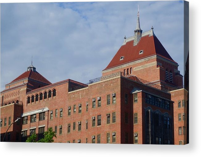 Kings County Hospital Center Acrylic Print featuring the photograph Kings County Hospital Center, Brooklyn by Rauno Joks