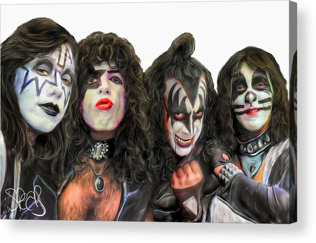Kiss Acrylic Print featuring the painting Kiss by Mark Spears