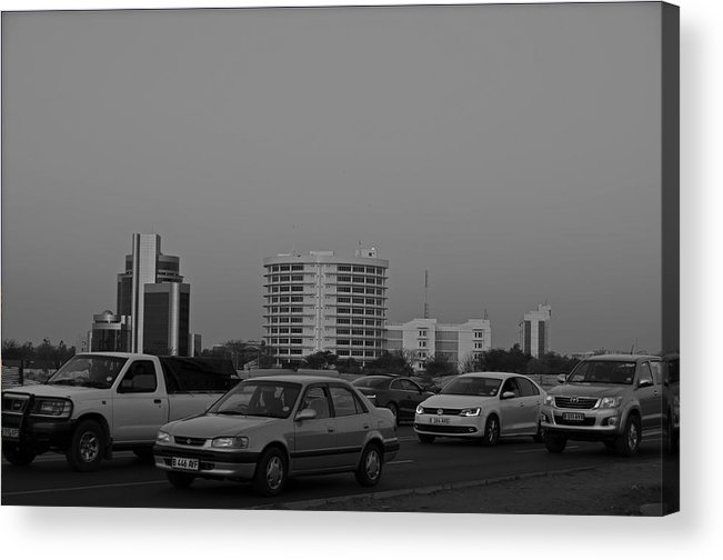 Gaborone Acrylic Print featuring the photograph Knock Off Time by Benny Makhulu