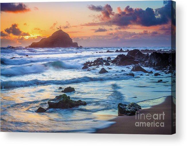 America Acrylic Print featuring the photograph Koki Beach Harmony by Inge Johnsson