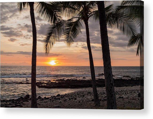 Kona Big Island Hawaii Beach Ocean Sunset Acrylic Print featuring the photograph Kona Sunset by Brian Harig