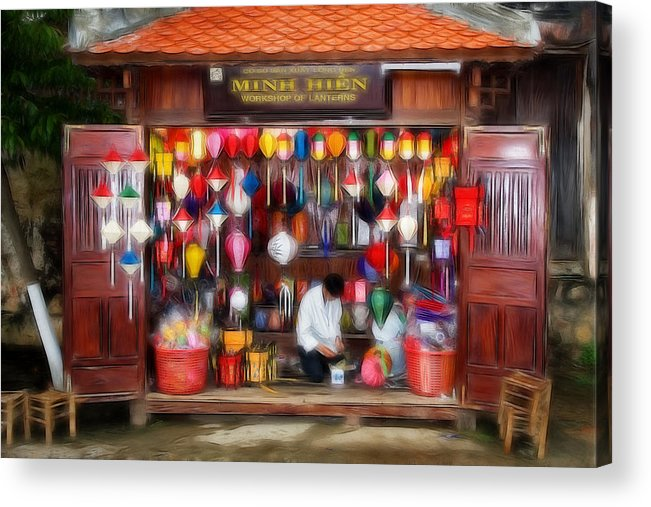 Lampion Acrylic Print featuring the photograph L A M P I O N - S H O P by Thomas Herzog
