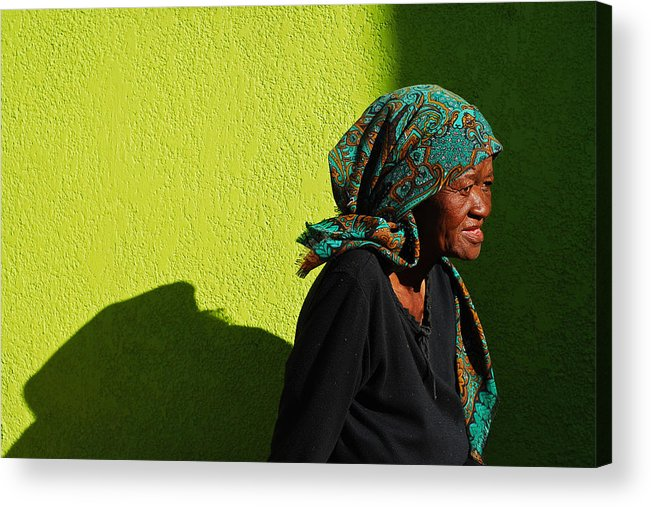 Africa Acrylic Print featuring the photograph Lady In Green by Skip Hunt