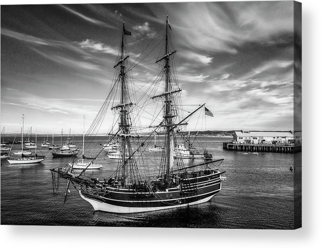 American Acrylic Print featuring the photograph Lady Washington In Black And White by Garry Gay