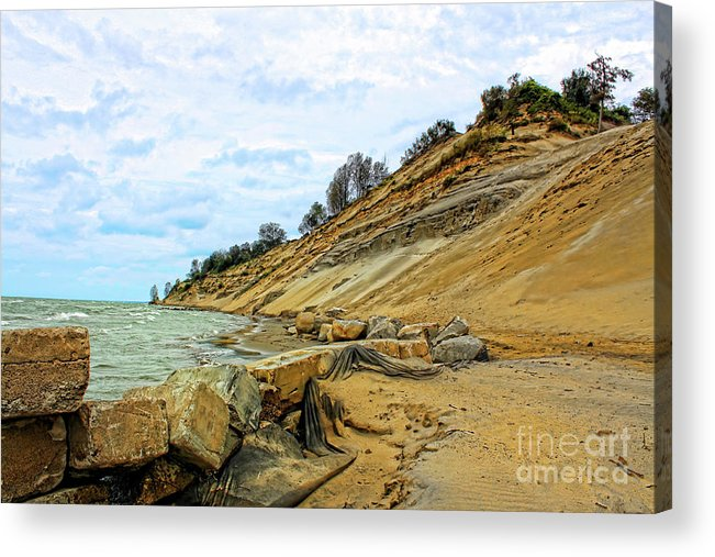 Nature Acrylic Print featuring the photograph Lake Erie Shoreline by Cathy Beharriell