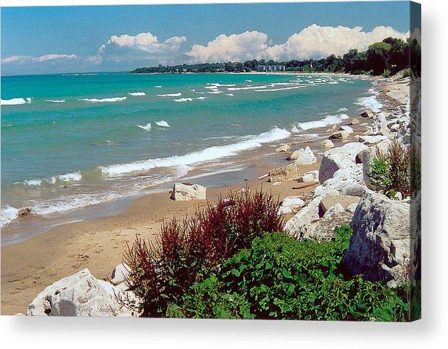 Lake Huron Acrylic Print featuring the photograph Lake Huron Ontario by Greg Taylor