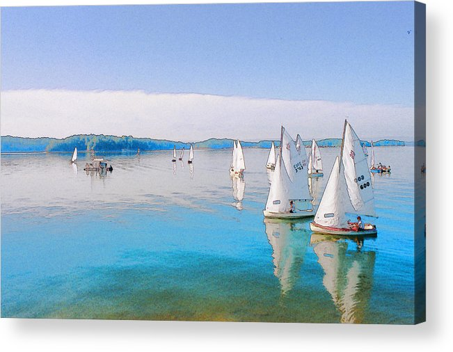 Water Acrylic Print featuring the digital art Lake Lanier by Randy Sprout