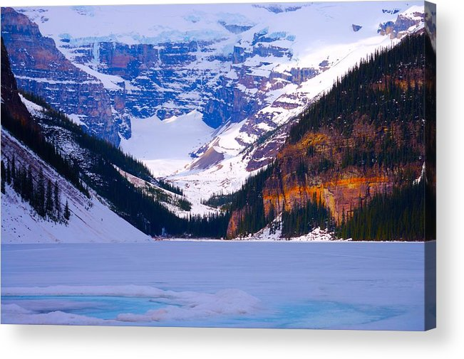 Lake Louise Acrylic Print featuring the photograph Lake Louise by Paul Kloschinsky