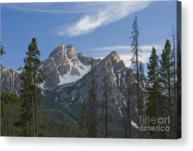 Majestic Acrylic Print featuring the photograph Last Light On Mcgowan by Idaho Scenic Images Linda Lantzy