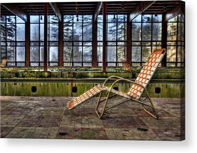 Lounge Acrylic Print featuring the photograph Last Resort by Evelina Kremsdorf