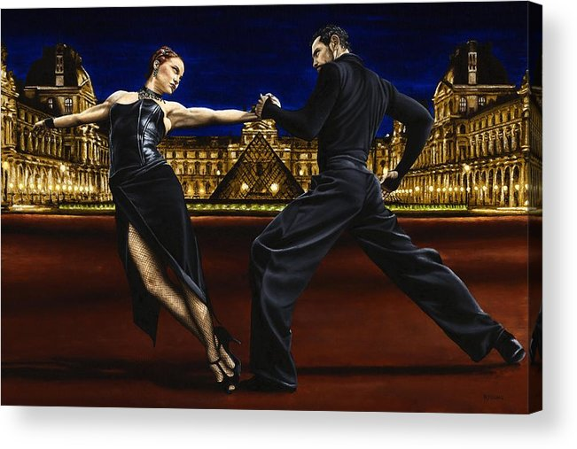 Tango Acrylic Print featuring the painting Last Tango In Paris by Richard Young