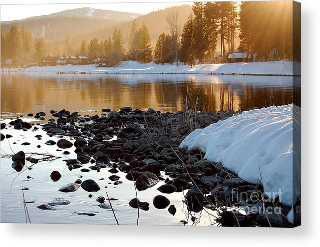 Lake Tahoe Acrylic Print featuring the photograph Late Aternoon Lake Tahoe by Heather S Huston