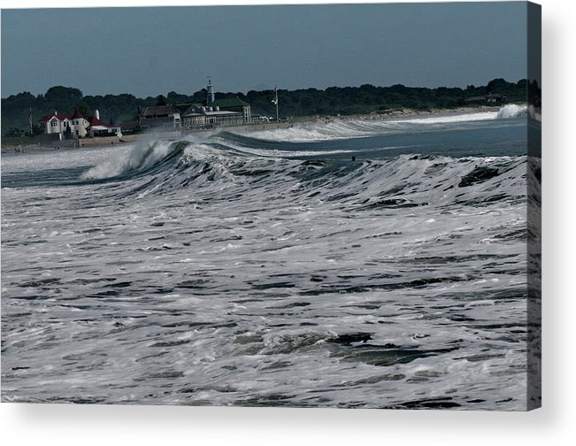 Atlantic Ocean Acrylic Print featuring the photograph Late Summer Storm by Barry Doherty
