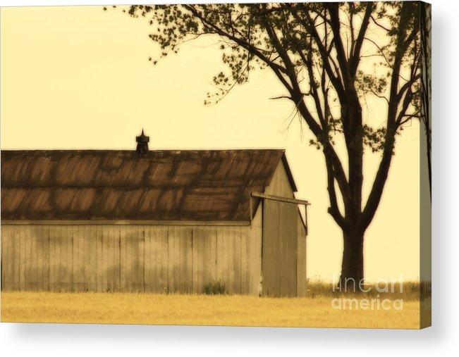 Farm Acrylic Print featuring the photograph Lazy Days Barn by Cathy Beharriell