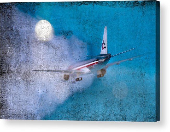 Plane Acrylic Print featuring the photograph Leavin' On A Jet Plane by Rebecca Cozart