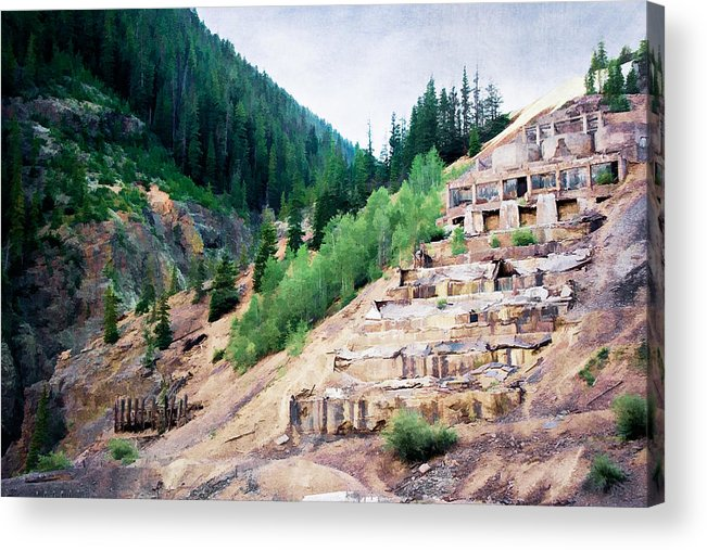 Colorado Acrylic Print featuring the photograph Leftovers From Sunnyside Mill by Lana Trussell