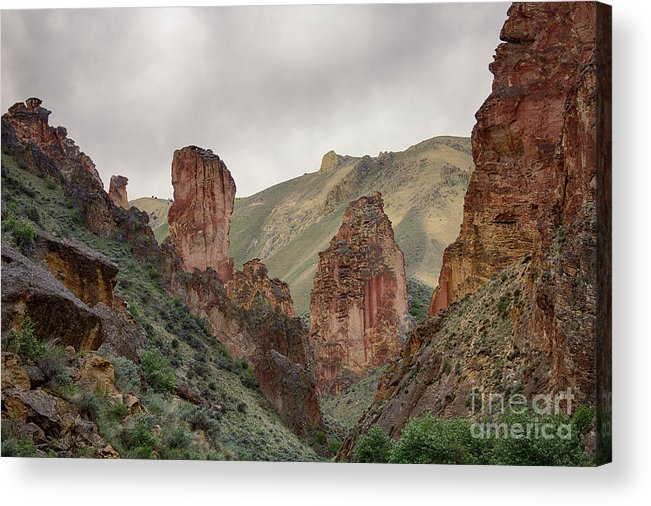 Eastern Oregon Acrylic Print featuring the photograph Leslie Gulch by Idaho Scenic Images Linda Lantzy
