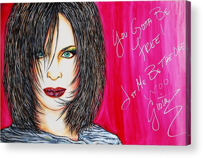 Autographed Acrylic Print featuring the mixed media Let Me B Free And The One by Joseph Lawrence Vasile