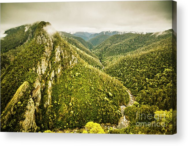Nature Acrylic Print featuring the photograph Leven Canyon Reserve Tasmania by Jorgo Photography - Wall Art Gallery