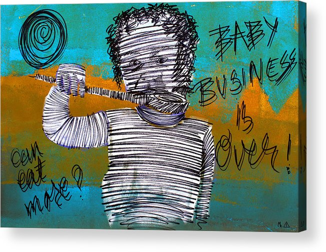 Baby Business Acrylic Print featuring the painting Lib-496 by Artist Singh