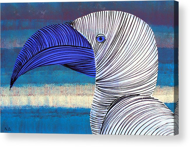 Bird Acrylic Print featuring the painting Lib-499 by Artist Singh