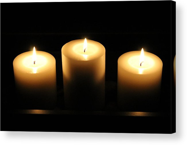 Candles Acrylic Print featuring the photograph Light In The Darkness by Debbie Levene
