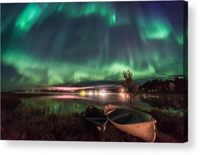 Auroras Acrylic Print featuring the photograph Light Pollution by Markus Kiili