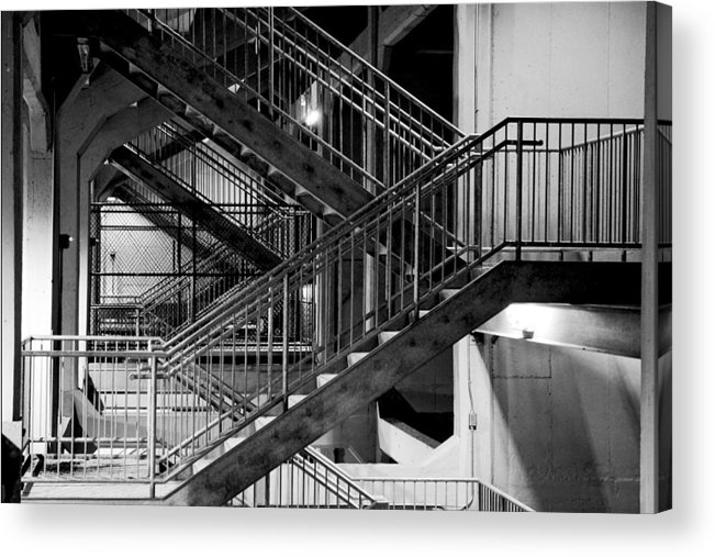Stairs Acrylic Print featuring the photograph Lines by Greg Fortier