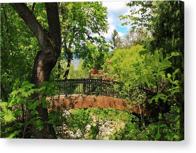 Ashland Creek Acrylic Print featuring the photograph Lithia Park Bridge by James Eddy