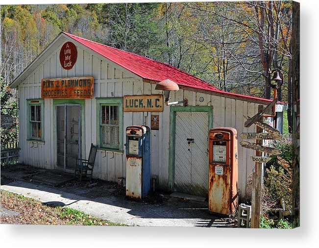 Country Store Acrylic Print featuring the photograph Little Bit O' Store by Alan Lenk