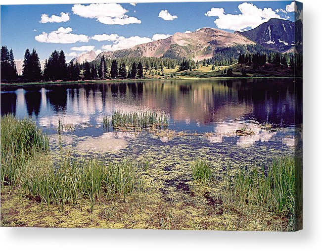 Lake Acrylic Print featuring the photograph Little Molas Lake Colorado by Greg Taylor