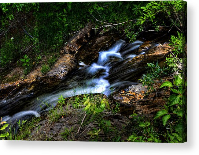 Stream Acrylic Print featuring the photograph Little Stream by Gary Smith