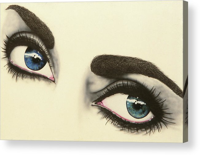 Eyes Acrylic Print featuring the painting Liz by Brett Cremeens
