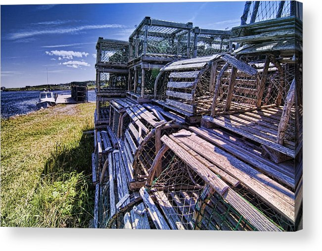 Lobster Traps Acrylic Print featuring the photograph Lobster Traps In The Sun by Sven Brogren