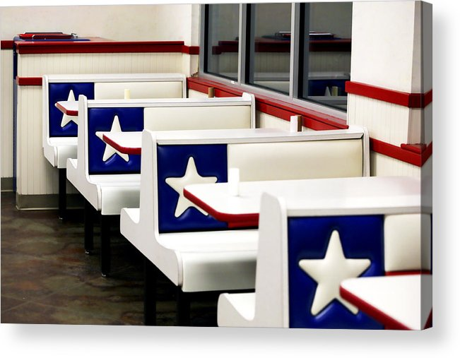 Americana Acrylic Print featuring the photograph Lone Star Dairy Queen by Marilyn Hunt