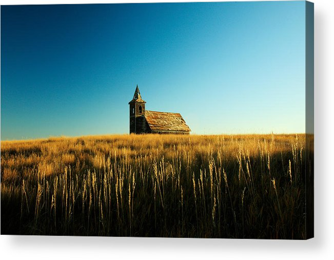 Church Acrylic Print featuring the photograph Lonely Old Church by Todd Klassy