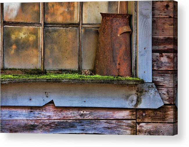 Rusty Pot Acrylic Print featuring the photograph Long Forgotten by Bonnie Bruno