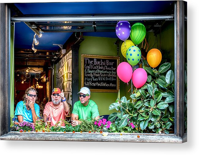 Look Acrylic Print featuring the digital art Look Over There by John Haldane