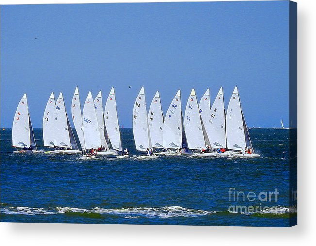 E-scows Acrylic Print featuring the photograph Love This by Scott Cameron