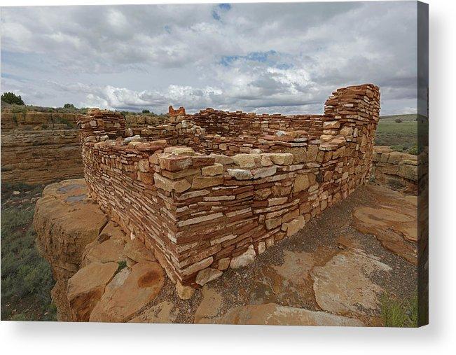 Tom Daniel Acrylic Print featuring the photograph Lower Box Canyon Ruin by Tom Daniel