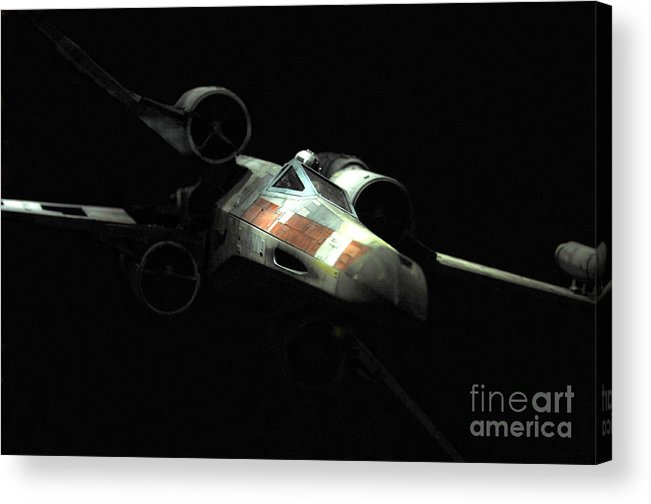 X-wing Acrylic Print featuring the photograph Luke's Original X-wing by Micah May