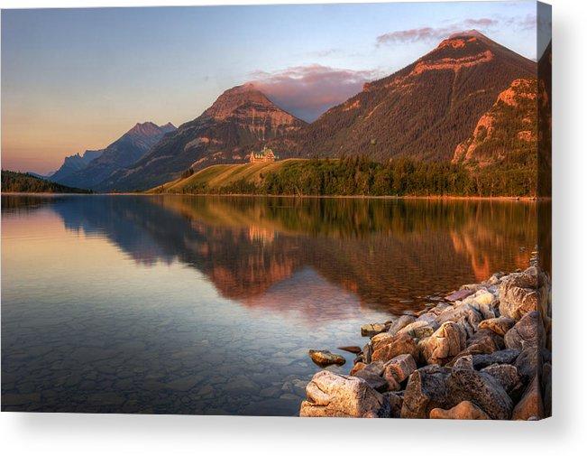 Alberta Acrylic Print featuring the photograph M O R N I N G R E F L E C T I O N S 15782 by Philip Esterle
