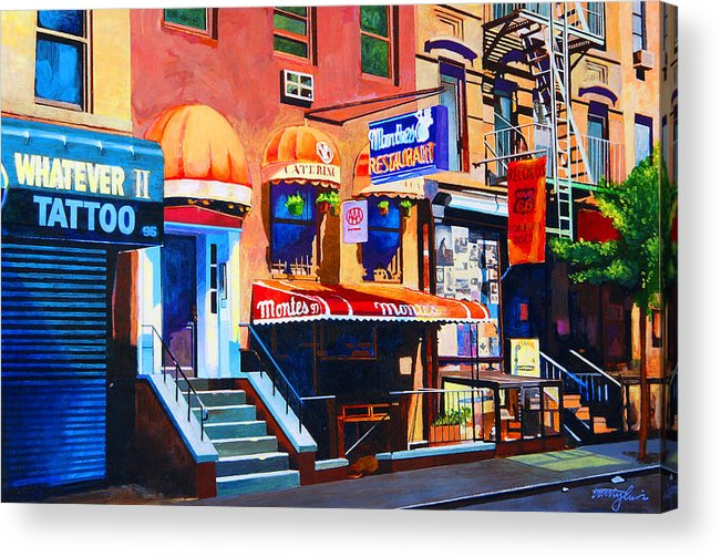 Macdougal Street Acrylic Print featuring the painting Macdougal Street by John Tartaglione