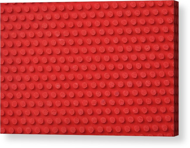 Horizontal Acrylic Print featuring the photograph Macro Ping Pong Paddle Texture by Nic Taylor